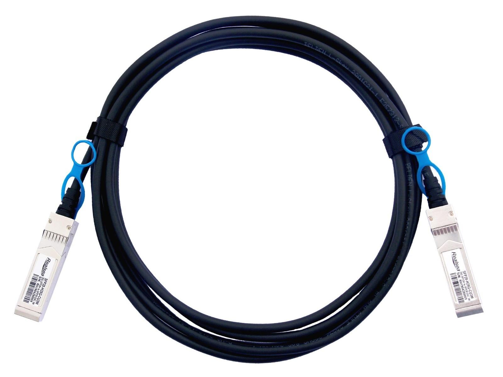 锐捷RUIJIE兼容 SFP28-25G-CU0.5M SFP28 转 SFP28 DAC高速线缆铜缆
