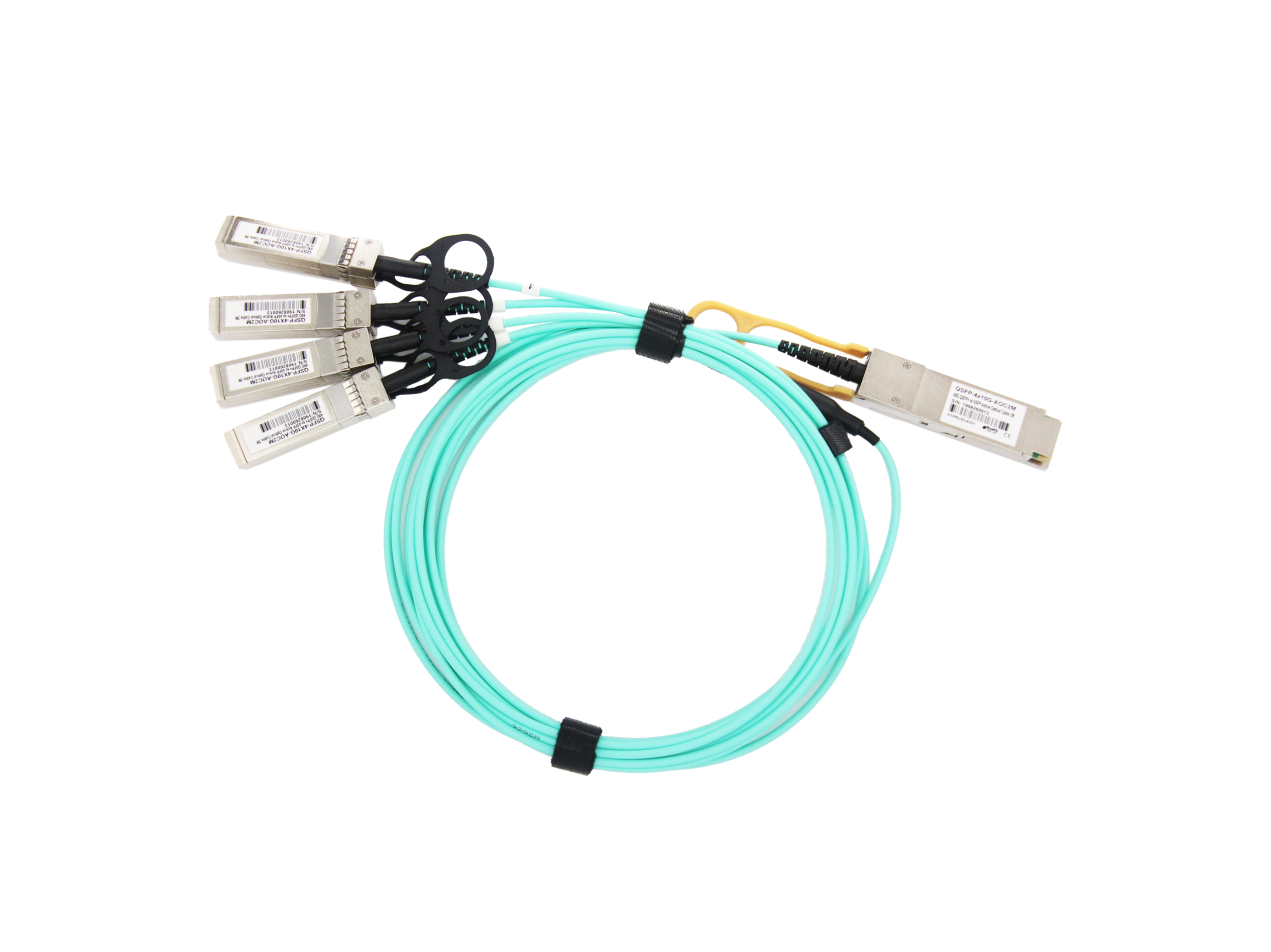 极进(Extreme)兼容10GB-4-F01-QSFP QSFP+ 转 4SFP+ AOC高速光缆