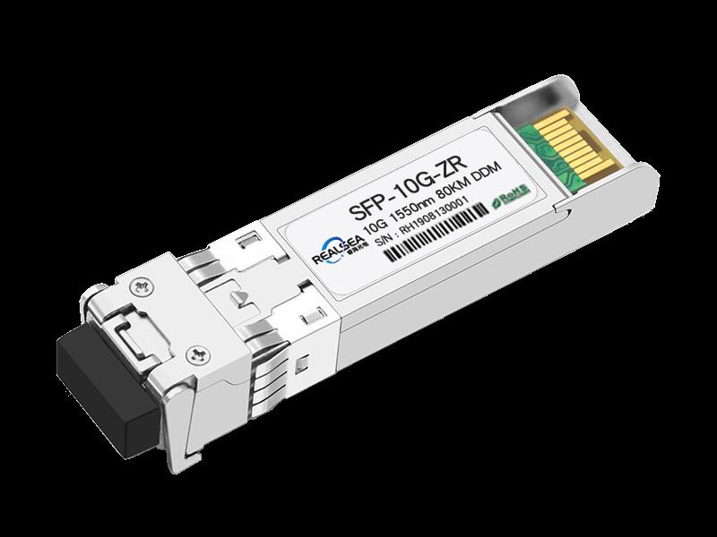 万兆光模块10G单模双芯80KM双LC接口1550nm带DDM SFP-10G-ZR