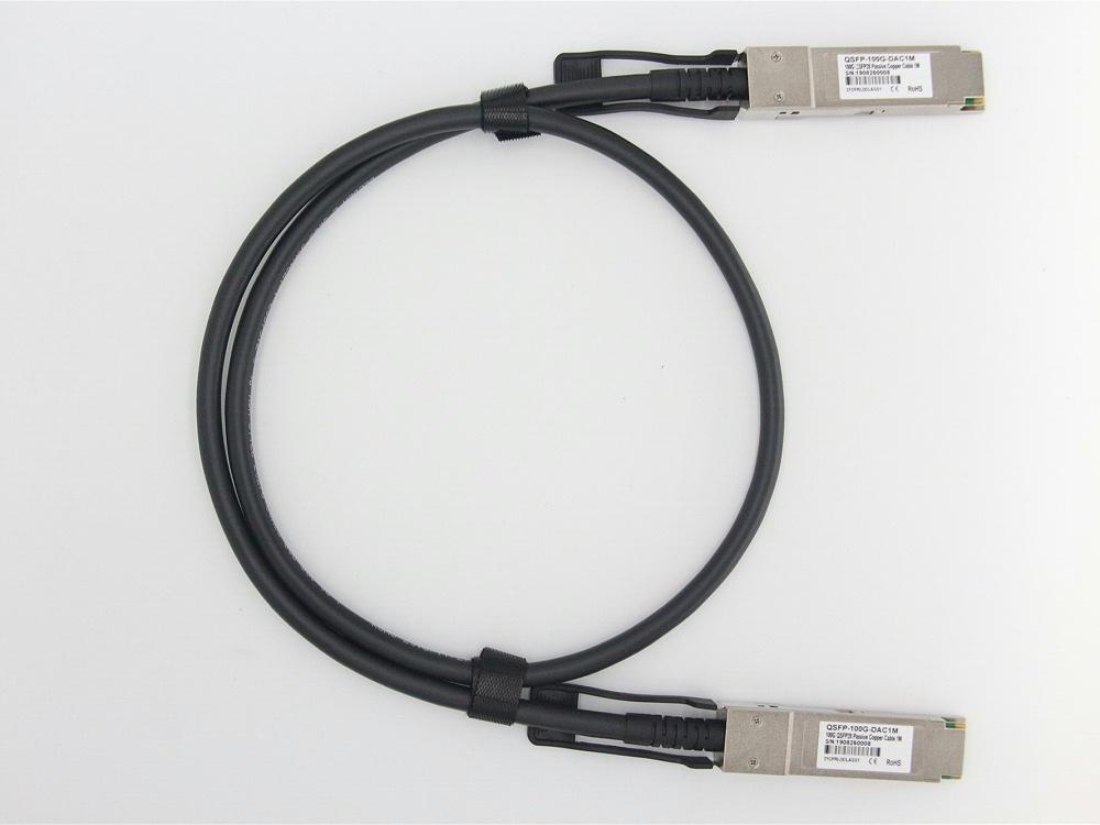 QSFP28-100G-CU1M   锐捷RUIJIE兼容QSFP28 TO QSFP28 DAC高速线缆